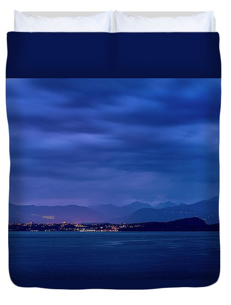 Duvet Cover featuring the photograph Sirmione by Traven Milovich