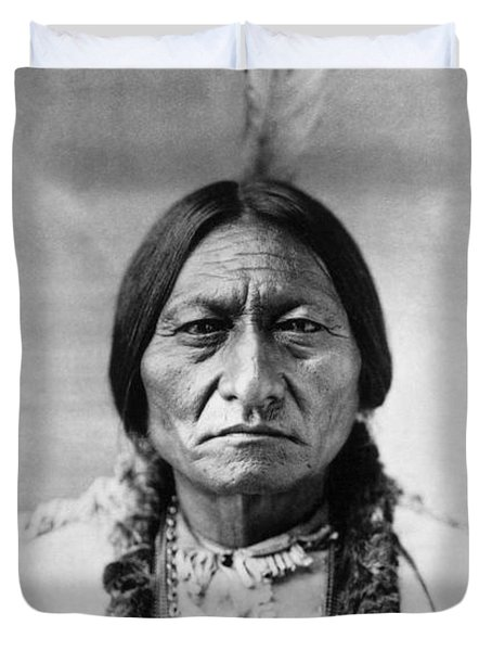 Sitting Bull 1834-1890. To License For Professional Use Visit Granger.com Duvet Cover