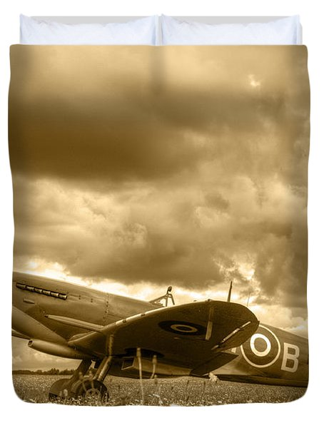 Spitfire Mk Ixb Duvet Cover