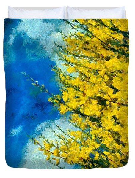 Spring Wild Flowers Duvet Cover