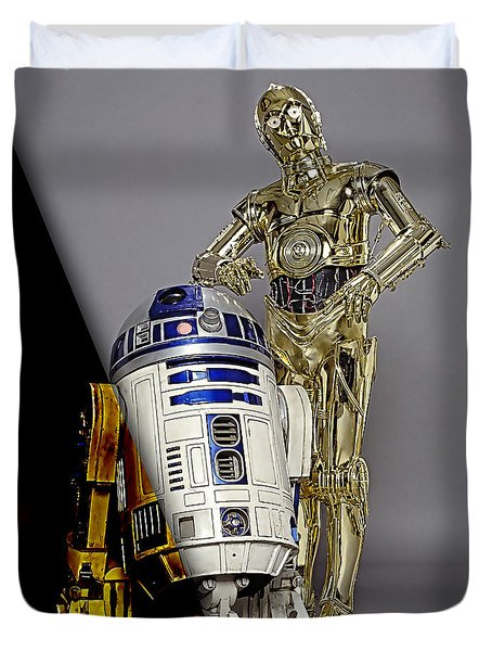 Star Wars C3po And R2d2 Collection Duvet Cover by Marvin Blaine