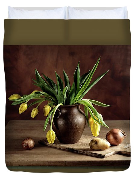 Still Life With Tulips Duvet Cover