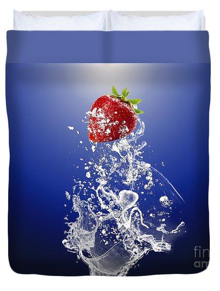 Strawberry Splash Duvet Cover