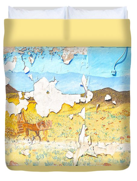Duvet Cover featuring the photograph Street Art - Melba, Id by Dart and Suze Humeston