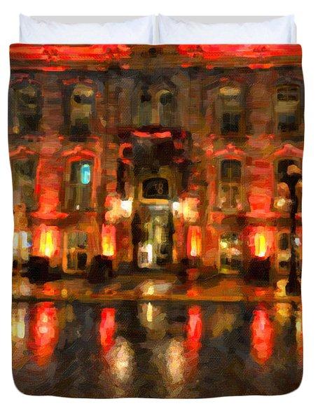 Street Reflections Duvet Cover