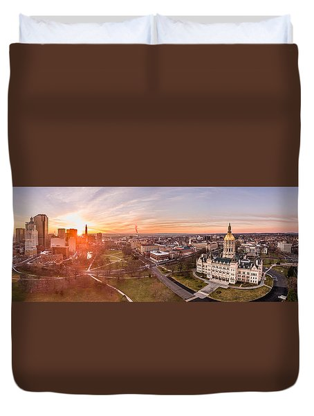Sunrise In Hartford, Connecticut Duvet Cover