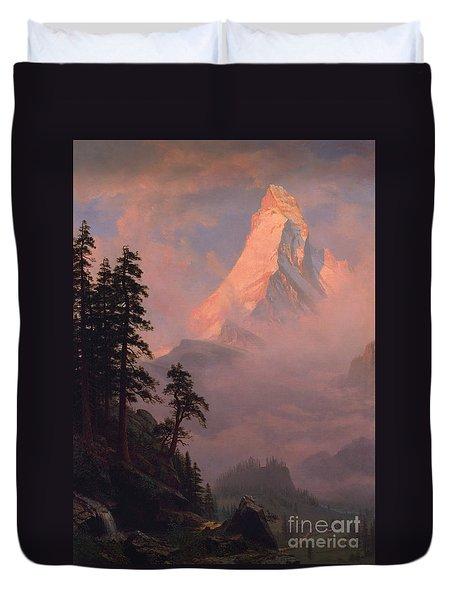 Sunrise On The Matterhorn Duvet Cover
