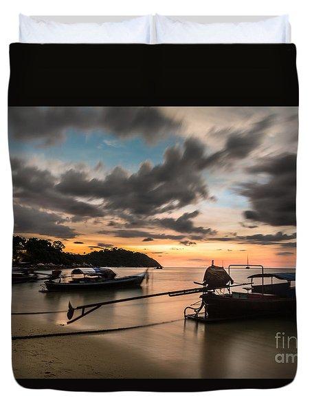 Sunset Over Koh Lipe Duvet Cover