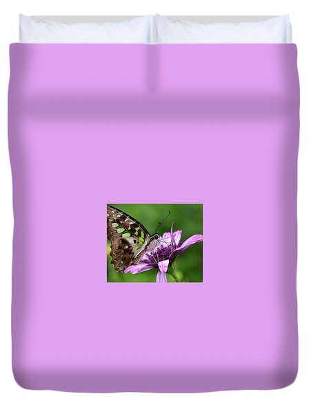 Tailed Jay Duvet Cover by Ronda Ryan