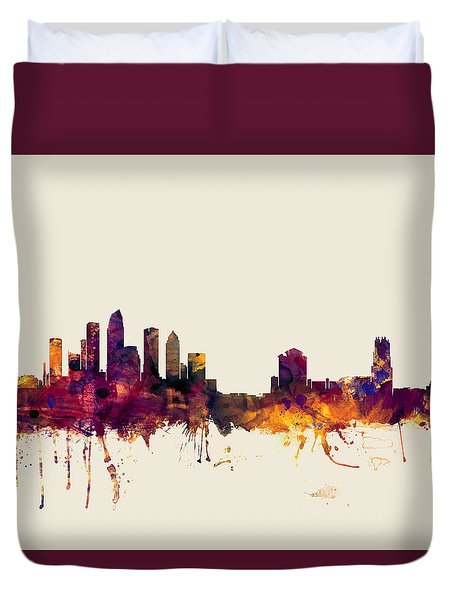 Tampa Florida Skyline Duvet Cover