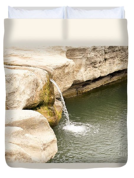 Duvet Cover featuring the photograph Texas - Mckinney Falls State Park  by Ray Shrewsberry
