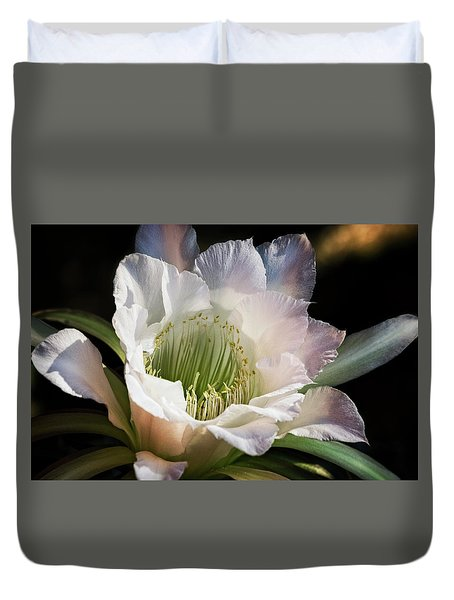 Duvet Cover featuring the photograph The Beauty Of White  by Saija Lehtonen