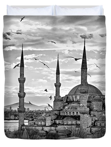 The Blue Mosque - Istanbul Duvet Cover by Luciano Mortula