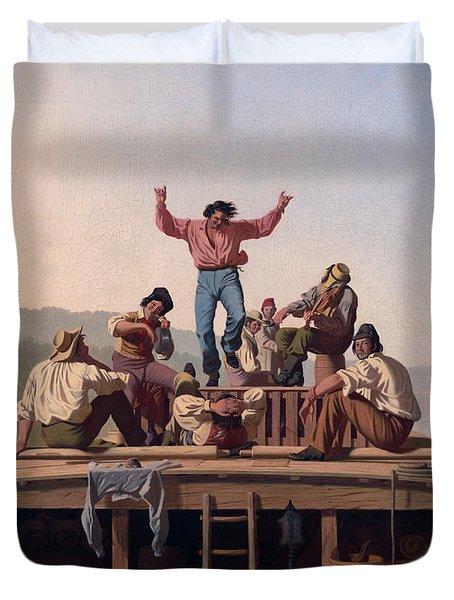 The Jolly Flatboatmen Duvet Cover