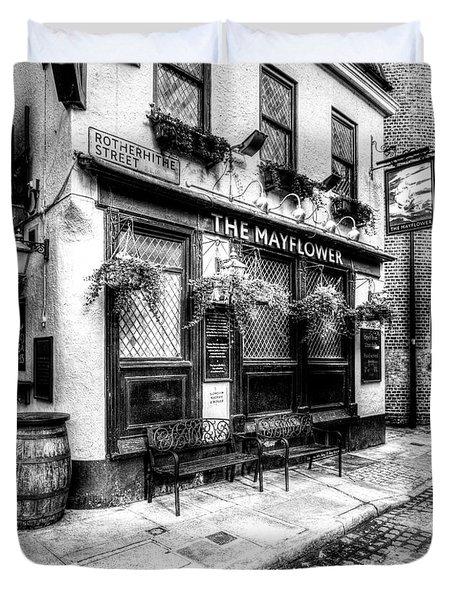 The Mayflower Pub London Duvet Cover