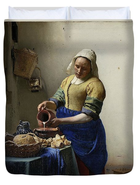 The Milkmaid, 1660 Duvet Cover