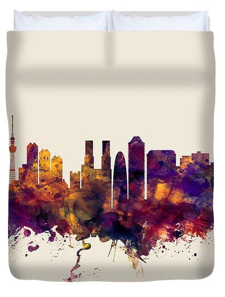 Tokyo Japan Skyline Duvet Cover