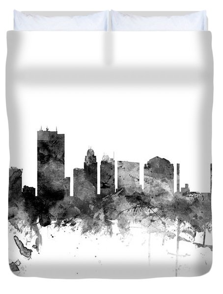 Toledo Ohio Skyline Duvet Cover