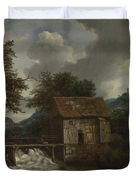 Two Watermills And An Open Sluice At Singraven Duvet Cover