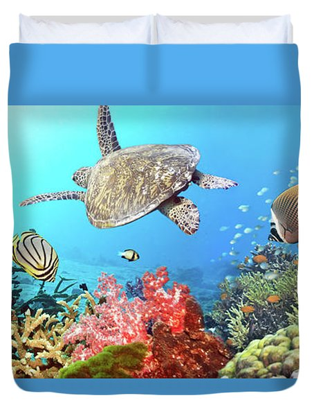 Underwater Panorama Duvet Cover