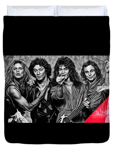 Van Halen Collection Duvet Cover by Marvin Blaine