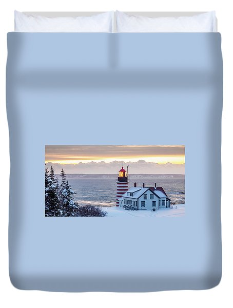 West Quoddy Lighthouse Duvet Cover