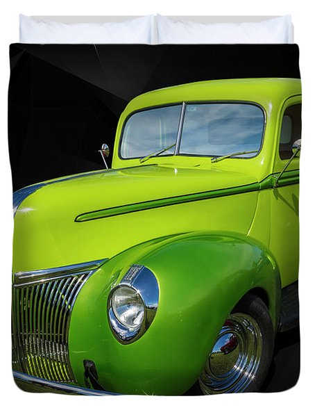 40s Ford Duvet Cover