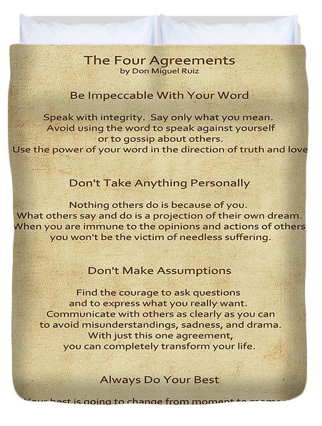 41- The Four Agreements Duvet Cover
