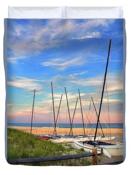 41st Street Beach In Ocean City Nj Duvet Cover