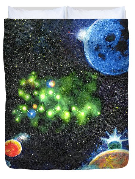 420 Space Duvet Cover by Charles Bickel