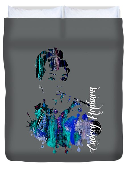 Audrey Hepburn Collection Duvet Cover by Marvin Blaine