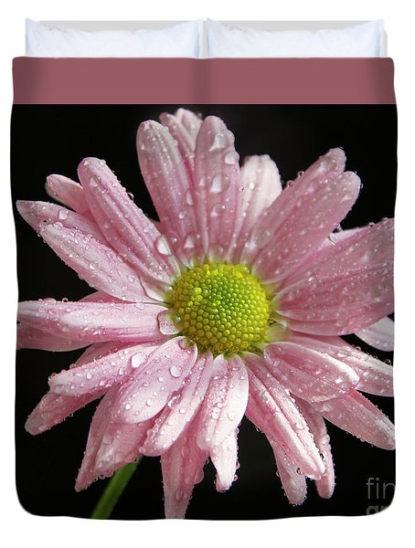 Pink Flower Duvet Cover by Elvira Ladocki