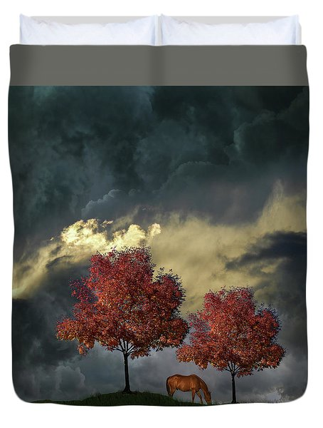 Duvet Cover featuring the photograph 4384 by Peter Holme III