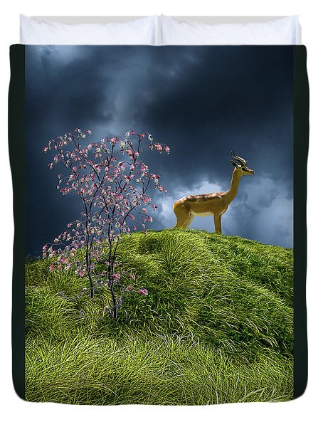 Duvet Cover featuring the photograph 4388 by Peter Holme III