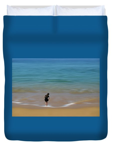 Duvet Cover featuring the photograph 4391 by Peter Holme III