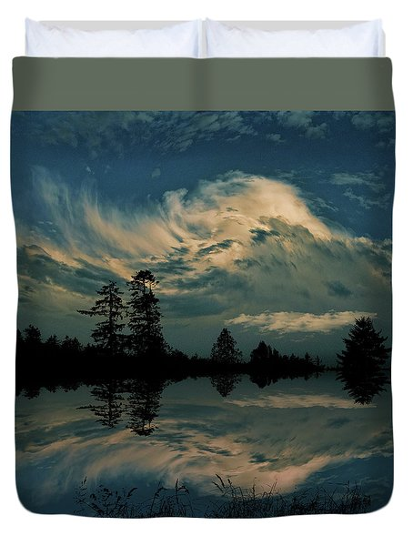 Duvet Cover featuring the photograph 4395 by Peter Holme III