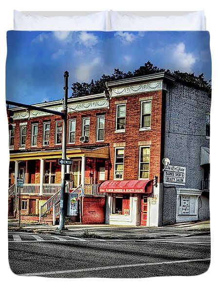 43rd Street And York Road Duvet Cover