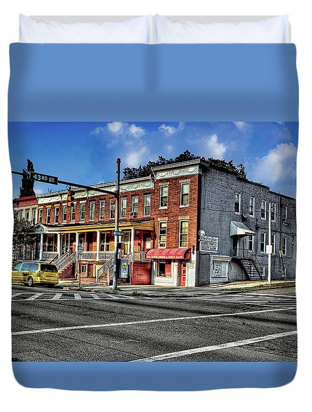 43rd Street And York Road Duvet Cover