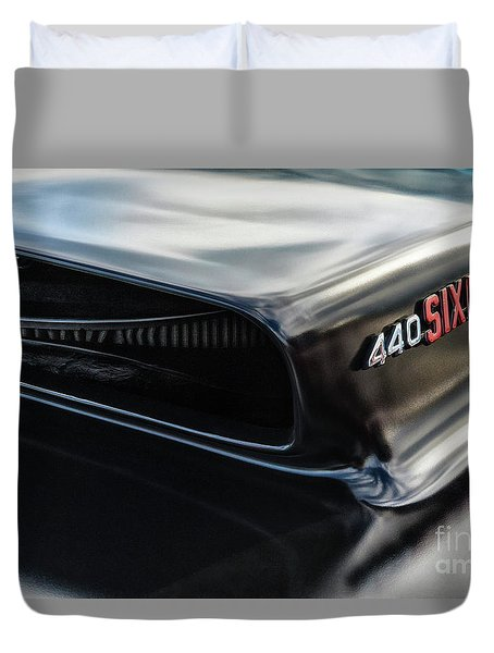 Duvet Cover featuring the photograph 440 Sixpack by Brad Allen Fine Art