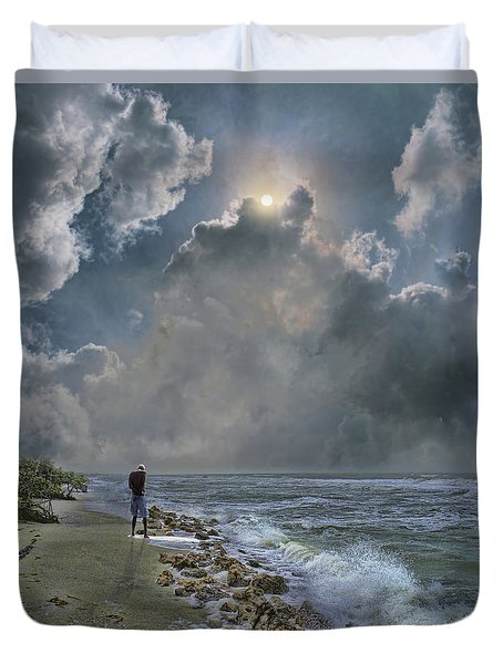 Duvet Cover featuring the photograph 4405 by Peter Holme III