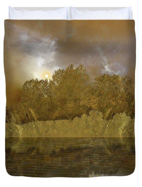 Duvet Cover featuring the photograph 4411 by Peter Holme III