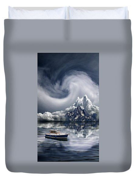 Duvet Cover featuring the photograph 4412 by Peter Holme III