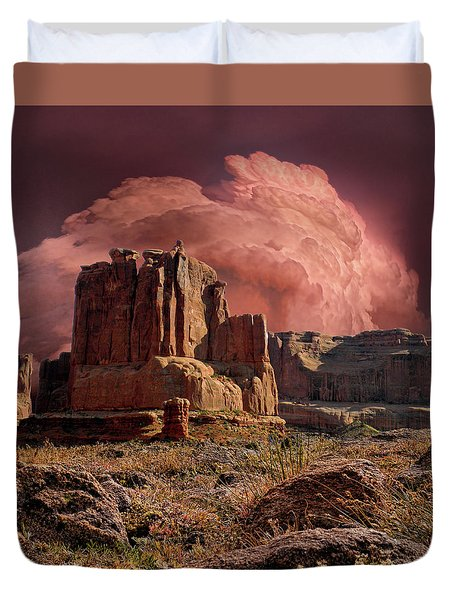 Duvet Cover featuring the photograph 4417 by Peter Holme III