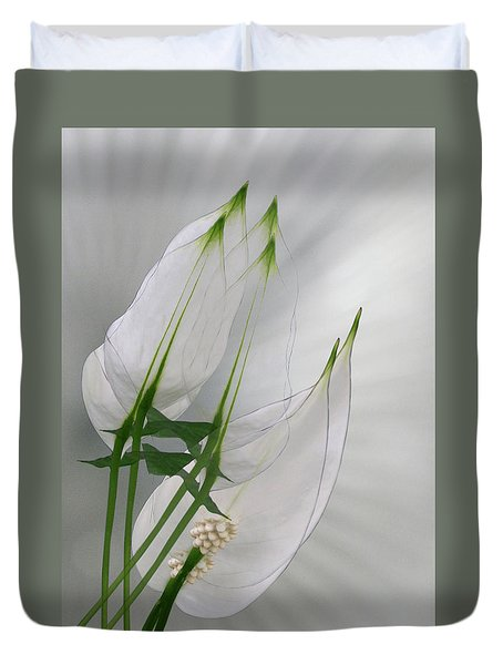 Duvet Cover featuring the photograph 4425 by Peter Holme III