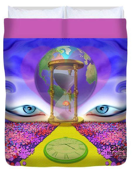 Duvet Cover featuring the digital art 444 Pathway by Barbara Tristan