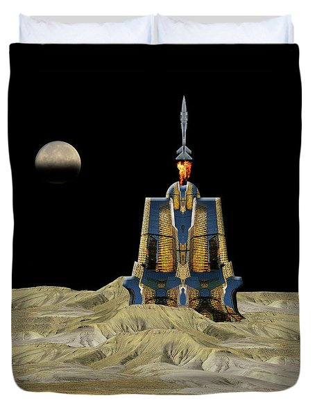 Duvet Cover featuring the photograph 4481 by Peter Holme III