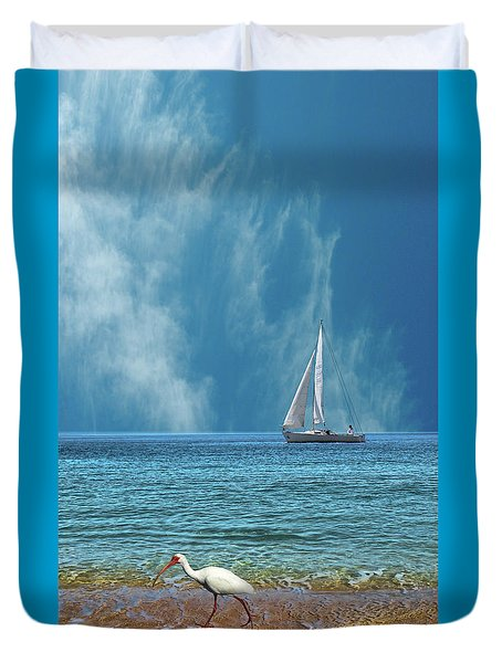 Duvet Cover featuring the photograph 4485 by Peter Holme III