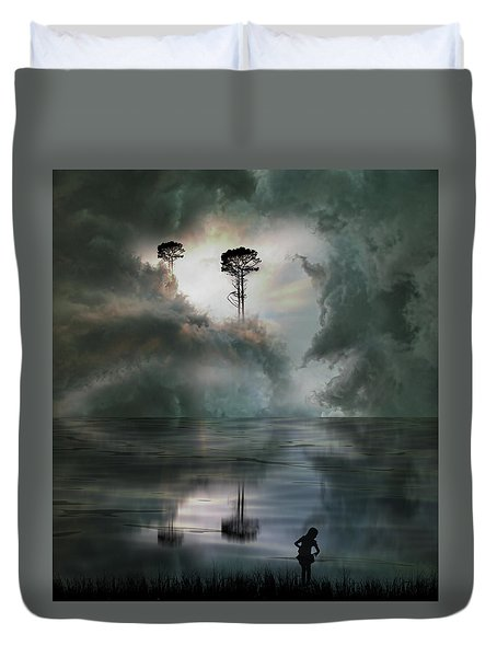 Duvet Cover featuring the photograph 4494 by Peter Holme III