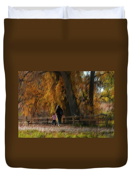 Duvet Cover featuring the photograph 4496 by Peter Holme III