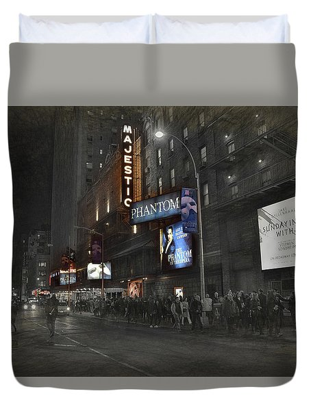 44th Street Nyc Duvet Cover